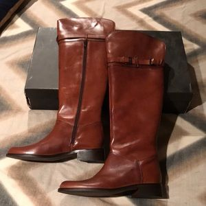 Charles David Providence riding boot in cognac